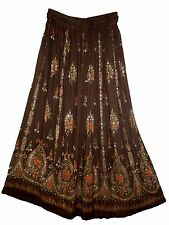 Indian RAYON skirt Rock falda boho hippy kjol retro jupe WOMEN EHS ethnic retro