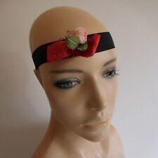 élastique à cheveux rose rouge fait main accessoire mode couture femme N5220