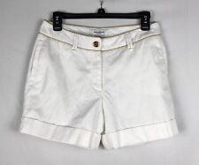 ISAAC MIZRAHI For Target Shorts Size 4 White w/Gold Trim.