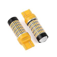 2uds 7443 112-SMD-LED 4014 Amarillo Coche Cola Luz Bombillas Proyector Lente