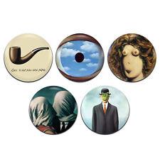 5x René Magritte Surrealist Artist Surrealism 25mm / 1 Inch D Pin Button Badges