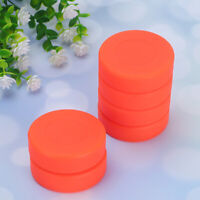 10 Pcs Hockey  Pucks Matte Orange Sports Supplies for Players Athletes Beginners
