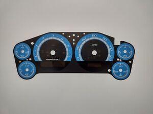 Custom Blue Gauge Face Overlay for 2007-2013 Silverado Sierra Tahoe Gas Engines