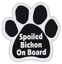 Dog Paw Shaped Magnets: SPOILED BICHON ON BOARD (FRISE) | Dogs, Gifts, Cars