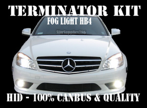MERCEDES BENZ HB4 CANBUS FOG LIGHT HID XENON TERMINATOR KIT HB4/9006 NO ERRORS