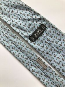 Hermes Paris Tie 605722 PA Silk 100% Authentic 100% Made In France Rare