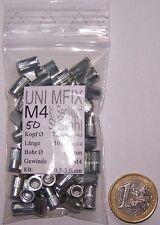 50 Stahl Blindnietmuttern M4 Mini Senkkopf gerändelt Einnietmutter Nietmutter