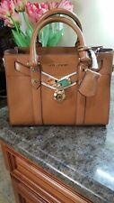 NWT MICHAEL Michael Kors Nouveau Hamilton Brown Leather Satchel Crossbody Bag
