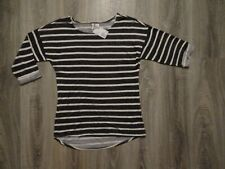 NEW Womens H&M oversized top/ blouse/ striped tunic size XS