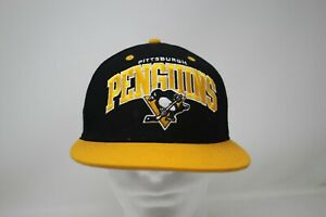 Mitchell & Ness Black and Yellow Pittsburgh Penguins Snap-back Hat