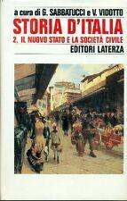 SABBATUCCI Giovanni, Storia d'Italia. 2. Il nuovo stato e la società civile