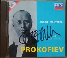 Charles DUTOIT Signiert PROKOFIEV Symphony No.1 Classical & 5 DECCA CD Montreal