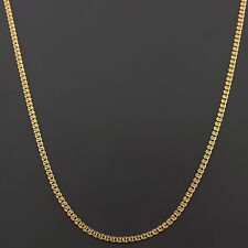 10K YELLOW GOLD 22 INCH 2mm INTERLINK (LOVE) CHAIN NECKLACE FREE SHIPPING