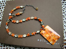 Mother-of-Pearl Pendant Necklace N1260 Retired! Silpada S Silver Coral Abalone