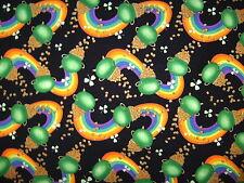 St. Patricks Luck Of The Irish Rainbow Pot O' Gold Clover Chefs Apron Handmade