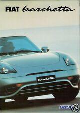 FIAT Barchetta 1.8 1997-2000 UK Opuscolo Vendite sul Mercato PIEGA