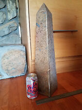 """23lb  20"""" tall giant fossil stone obelisk tower monument crystal point healing"""