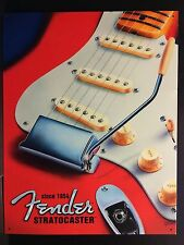 Red Fender Stratocaster 1954 Guitar TIN SIGN vtg Retro Wall Decor Music