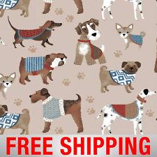 """Fleece Fabric Dog Bulldog Dalmatian Chihuahua 60"""" Wide Free Shipping AA 44157"""