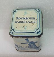 Vintage ROOBOTER BABBELAARS Holland Spice Advertising Small Tin Blue White