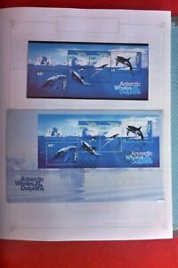 1995 AUST ANTARTIC WHALES & DOLPHINS MINI SHEET S MUH  AND M/S FIRST DAY COVER