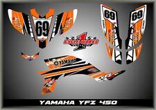 Yamaha YFZ450 03- Carb   SEMI CUSTOM GRAPHICS KIT AJORANGE