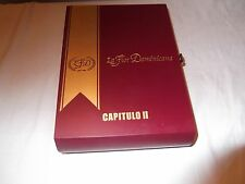 Beautiful solid wood cigar box with hinged lid, fitted interior, CAP II no liner