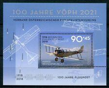 Austria 2018 MNH VOPH Airmail 100 Yrs Hansa-Brandenburg 1v M/S Aviation Stamps