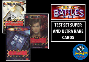 Dr Doctor Who Battles in Time TEST SET SUPER AND ULTRA RARE Cards - RESTOCKED