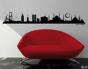 Wandtattoo Istanbul Skyline uss041 Türkei Wohnzimmer Schlafzimmer Wandsticker