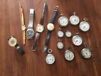 Lot Montres Ancienne vintage Gousset et bracelet argent et autre