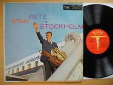 STAN GETZ In Stockholm LP 1956 Denmark/US Verve MGV 8213