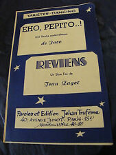 Partition Eho, pepito..! Jaro Reviens Jean Zager Music Sheet