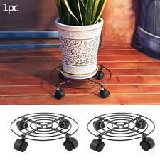 Plant Stand Trolley Metal Flower Pot Caddy Wheels Indoor Outdoor Garden Tools