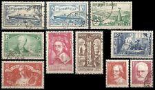 Déstockage : L'ANNÉE 1935 Complète, Oblitérés = Cote 92 € / Lot Timbres France