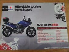 Suzuki V-STROM 650 Motorcycle Sales Brochure 2007