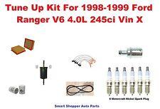 Serpentine Belt, Spark Plug Wire Set, Filter Tune Up For 1998-1999 Ford Ranger