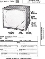 1956 Service Photofact Schematic SILVERTONE 5161 6113 6192A 528.42400 47700 TV