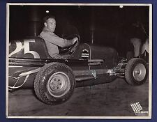 Bob McLean signed vintage auto racing photo 1933-1966 rare!