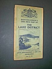 LAKE DISTRICT. BARTHOLOMEW'S 1 inch MAP. circa 1950. PAPER