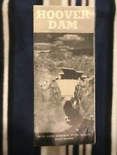 Vtg Rare 1947 Hoover Dam Information Brochure Colorado River By Usda