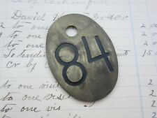 Vintage Number 84 Tag Cow Tag #84 Brass Metal Cattle Tag Year 1984 Keychain Fob
