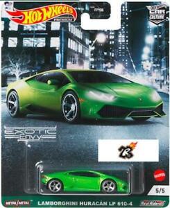Lamborghini Huracan LP 610-4 HOT WHEELS 2021 CAR CULTURE CAR CULTURE EXOTIC ENVY