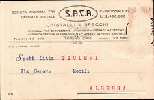 CARTOLINA PUBBLICITARIA S.A.C.A. CRISTALLI E SPECCHI TORINO - ANNI '20  C5-611