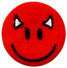 Diable Rouge Smiley à Repasser/à Coudre Chiffon Patch Réduit