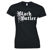 """BLACK BUTLER """"LOGO"""" ANIME, MANGA, COSPLAY LADIES T-SHIRT NEW"""
