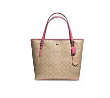 Coach Peyton Signature Zip Top Coated Canvas Tote Shoulder Bag Handbag F28365
