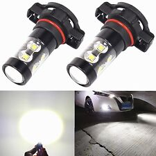 Alla Lighting 2x1900lm 2504 PSX24W Xtremely Super White 50W LED Fog Lights Bulbs