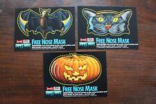 Budweiser Bud Fright Night Free Nose Mask 1989 Halloween promo bat pumpkin cat