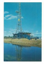 Texas TX Wildcat Oil Drilling Operation Standard View Card